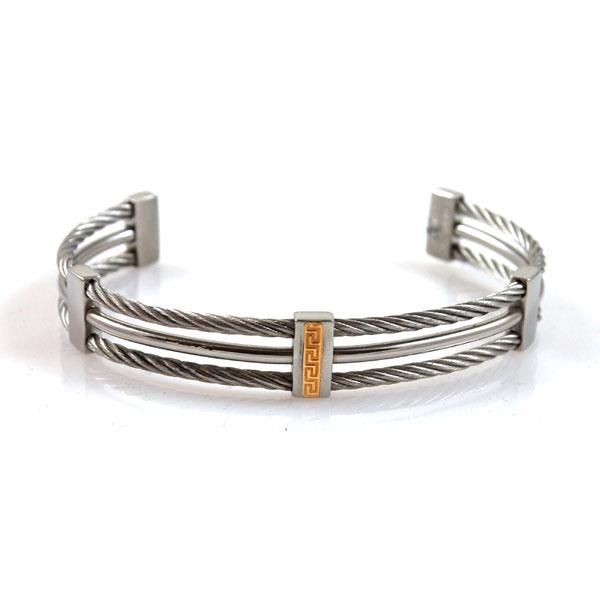 bracciale acciaio oro